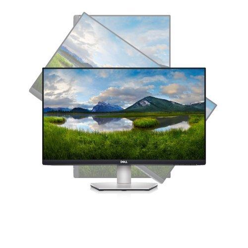 "Монитор Dell S2421HS, 23.8"" Wide LED, IPS AG, InfinityEdge, FullHD 1920x1080, 99% sRGB, 5ms, 1000:1, 250 cd/m2, HDMI, DisplayPort, Audio line-out, Height, Pivot, Swivel, Tilt, Black&Silver (снимка 1)"