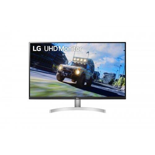 """Монитор LG 32"""" 32UN500-W, UHD (3840 x 2160), HDR10, AMD FreeSync (снимка 1)"""
