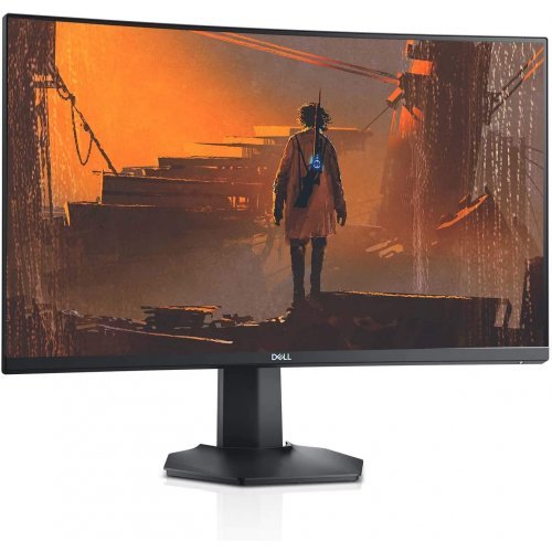 "Монитор DELL S-series S2721HGF 27.0"" Curved, 1920x1080, FHD, VA Antiglare, 16:9, 3000:1, 350cd/m2, NVIDIA G-SYNC, AMD FreeSync Premium Pro, 4ms/1ms, 178°/178°, DP, 2xHDMI, Headphone out, Tilt, Height Adjust, 3Y (снимка 1)"