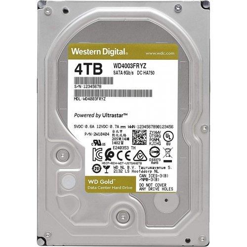 Твърд диск Western Digital 4TB, Gold Datacenter, SATA3 6Gb/s, 7200 rpm, 128MB (снимка 1)