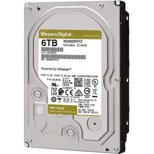 Твърд диск Western Digital 6TB, Gold Datacenter, SATA3 6Gb/s, 7200 rpm, 128MB (снимка 1)