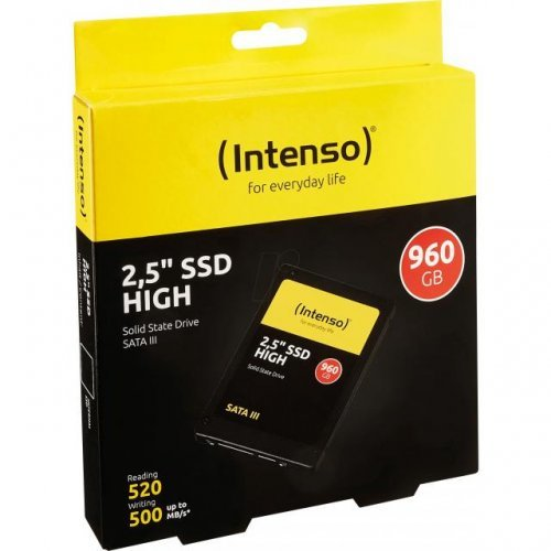 "SSD Intenso High Performance, 2.5"", 960 GB, SATA3 (снимка 1)"
