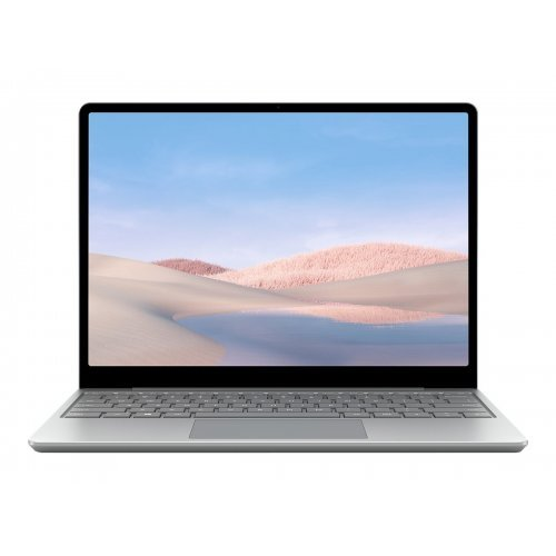 "Лаптоп Microsoft Surface Laptop GO, 2 в 1, сребрист, 12.4"" 1536x1024 тъч, Процесор Intel Core i5-1035G1 (4x/8x), Видео Intel UHD, 8GB LPDDR4X RAM, 256GB SSD диск, без опт. у-во, Windows 10 in S mode - English ОС (снимка 1)"