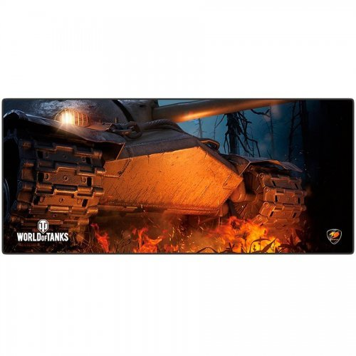 COUGAR Arena World of Tanks, Gaming Mouse Pad, Width (mm/inch) 800/31.49, Length(mm/inch) 300/11.81,Thickness (mm/inch) 5/0.19,Surface Material - Cloth, Base Material - Natural Rubber (снимка 1)