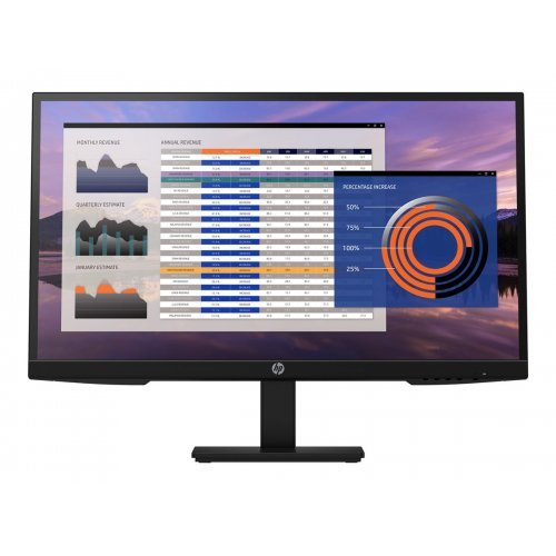 Монитор HP P27h G4 FHD Height Adjust Monitor 27inch Anti-Glare IPS Black 16:9 1920 x 1080 60 Hz 5ms 178 / 178 250 nits 1000:1 82 PPI CG:72 (снимка 1)