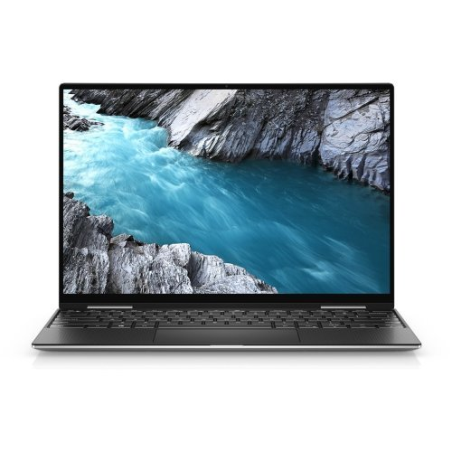"""Лаптоп Dell XPS 9310 ( 2 in 1 ), Intel Core i7-1165G7 (12MB Cache, up to 4.7 GHz), 13.4"""" 16:10 UHD+ WLED Touch (3840 x 2400), HD Cam, 16GB 4267MHz LPDDR4, 512GB PCIe NVMe x4 SSD on board, Intel(R) Iris Xe Graphics, Wi-Fi 6, BT 5.0, Backlit KBD, FPR, Win10 , Silver (снимка 1)"""