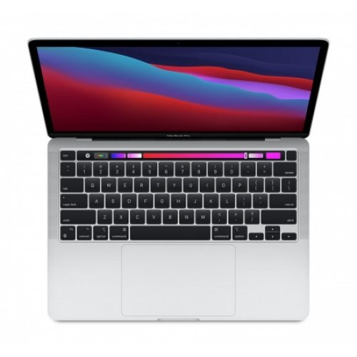 "Лаптоп Apple MacBook Pro 13, сребрист, 13.3"" (33.78см.) 2560x1600 (WQXGA) 60Hz IPS, Процесор Apple M1 (8 Core) 3.20 GHz, 8C GPU, Видео интегрирано, 8GB LPDDR4X RAM, 256GB SSD диск, без опт. у-во, MacOS X Sierra ОС, Клавиатура- светеща с БДС (снимка 1)"