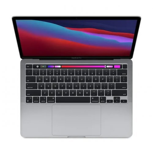 "Лаптоп Apple MacBook Pro, сив, 13.3"" (33.78см.) 2560x1600 (WQXGA) 60Hz IPS, Процесор Apple M1 (8 Core) 3.20 GHz, 8C GPU, Видео интегрирано, 8GB LPDDR4X RAM, 256GB SSD диск, без опт. у-во, MacOS X Sierra ОС, Клавиатура- светеща (снимка 1)"