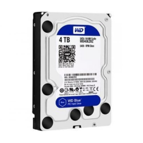 Твърд диск Western Digital Blue, 4TB, 5400rpm, 64MB, SATA 3 (снимка 1)