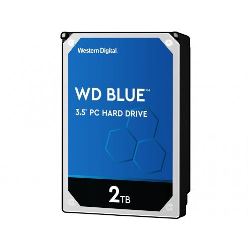 "Твърд диск Western Digital Blue 2TB 5400rpm  SATA 6GB/S, 256MB 3.5"" (снимка 1)"