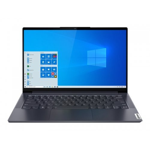 "Лаптоп Lenovo Yoga Slim 7, сив, 14.0"" (35.56см.) 1920x1080 (Full HD) без отблясъци IPS, Процесор Intel Core i7-1165G7 (4x/8x), Видео Intel Iris Xe Graphics, 16GB DDR4 RAM, 1TB SSD диск, без опт. у-во, Windows 10 64 ОС, Клавиатура- светеща с БДС (снимка 1)"