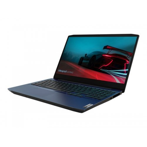 "Лаптоп Lenovo Q3 RAIL Gaming 3, син, 15.6"" (39.62см.) 1920x1080 (Full HD) без отблясъци 120Hz, Процесор AMD Ryzen 7 4800H (8x/16x), Видео nVidia GeForce GTX 1650 Ti/ 4GB GDDR6, 8GB DDR4 RAM, 512GB SSD диск, без опт. у-во, FreeDOS ОС, Клавиатура- светеща с БДС (снимка 1)"