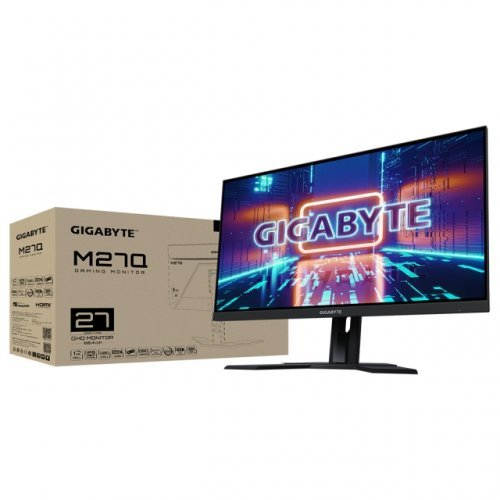 Монитор Gigabyte M27Q-EK, QHD, 170hz, 1ms (снимка 1)