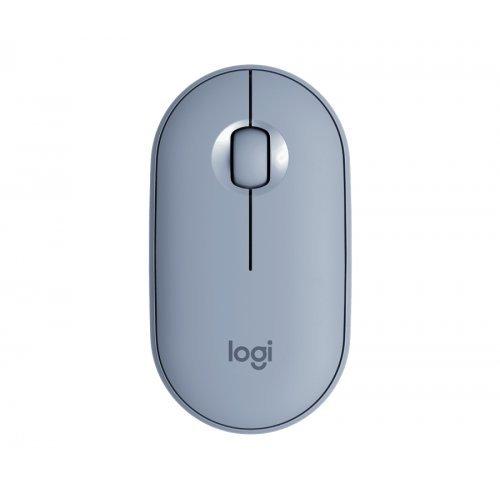 Мишка Logitech Pebble M350 Wireless Mouse - Blue Grey - EMEA (снимка 1)