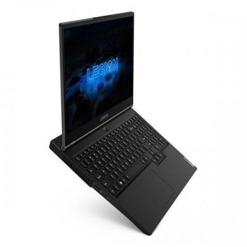 "Лаптоп Lenovo Legion 5 15IMH05H, черен, 15.6"" (39.62см.) 1920x1080 (Full HD) без отблясъци 120Hz, Процесор Intel Core i5-10300H (4x/8x), Видео nVidia GeForce GTX 1660Ti/ 6GB GDDR6, 8GB DDR4 RAM, 512GB SSD диск, без опт. у-во, без ОС, Клавиатура- с БДС (снимка 1)"