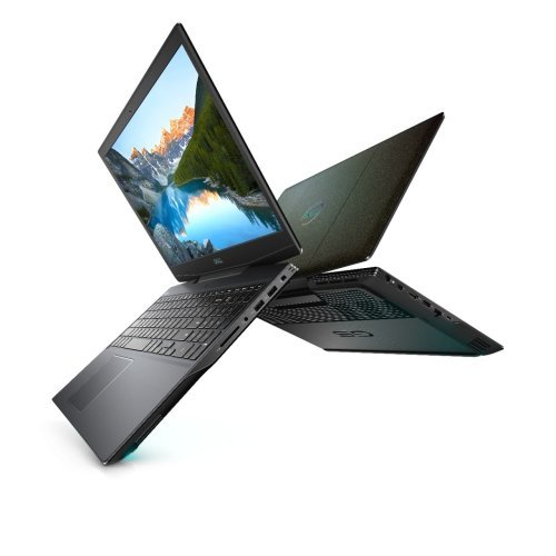 "Лаптоп Dell G5 15 5500, черен, 15.6"" (39.62см.) 1920x1080 (Full HD) без отблясъци 300Hz, Процесор Intel Core i7-10750H (6x/12x), Видео nVidia GeForce GTX 1660Ti/ 6GB GDDR6, 16GB DDR4 RAM, 1TB SSD диск, без опт. у-во, Windows 10 64 English ОС, Клавиатура- светеща (снимка 1)"
