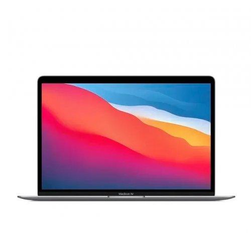 "Лаптоп Apple MacBook Air, сив, 13.3"" (33.78см.) 2560x1600 (WQXGA) лъскав 60Hz IPS, Процесор Apple M1 (8 Core) 3.20 GHz, 8C GPU, Видео Apple M1 7-core, 8GB LPDDR4X RAM, 512GB SSD диск, без опт. у-во, MacOS X Sierra ОС, Клавиатура- светеща с БДС (снимка 1)"
