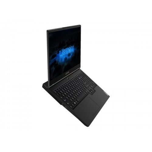 """Лаптоп Lenovo Legion 5 15ARH05, черен, 15.6"""" (39.62см.) 1920x1080 (Full HD) без отблясъци 144Hz, Процесор AMD Ryzen 5 4600H (6x/12X), Видео nVidia GeForce GTX 1650/ 4GB GDDR6, 8GB DDR4 RAM, 512GB SSD диск, без опт. у-во, без ОС, Клавиатура- с БДС (снимка 1)"""