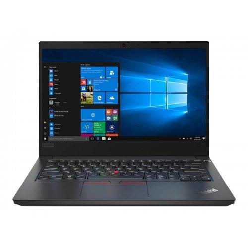 """Лаптоп Lenovo ThinkPad E14, черен, 14.0"""" (35.56см.) 1920x1080 (Full HD) без отблясъци IPS, Процесор Intel Core i7-1165G7 (4x/8x), Видео nVidia GeForce MX450/ 2GB GDDR5, 16GB DDR4 RAM, 512GB SSD диск, без опт. у-во, Windows 10 Pro 64 English ОС, Клавиатура- светеща с БДС (снимка 1)"""