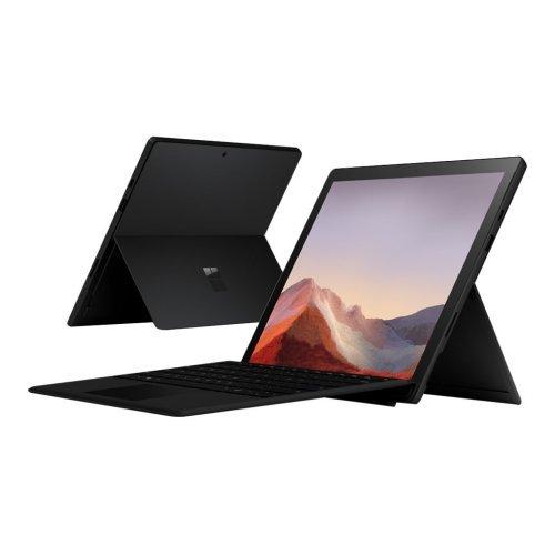"""Лаптоп-таблет Microsoft Laptop-Tablet Surface Pro7, черен, 12.3"""" (31.24см.) 2736x1824 (WQXGA+) тъч, Процесор Intel Core i7-1065G7 (4x/8x), Видео Intel Iris Plus, 16GB LPDDR4X RAM, 256GB SSD диск, без опт. у-во, Windows 10 Pro ОС (снимка 1)"""