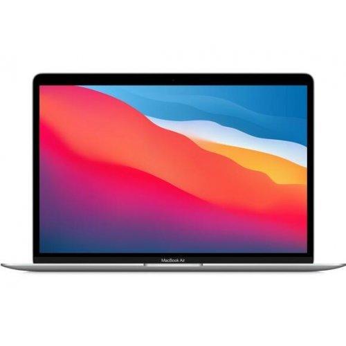 "Лаптоп Apple MacBook Air M1 2020, сребрист, 13.3"" (33.78см.) 2560x1600 (WQXGA) лъскав IPS, Процесор Apple M1 (8 Core) 3.20 GHz, 7C GPU, Видео Apple M1 7-core, 8GB LPDDR4X RAM, 256GB SSD диск, без опт. у-во, Apple macOS Big Sur 11.0 ОС, Клавиатура- светеща (снимка 1)"