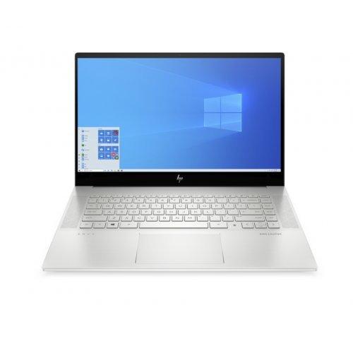 "Лаптоп HP Envy 15-ep0001nu, сребрист, 15.6"" (39.62см.) 3840x2160 (4K Ultra HD) лъскав 60Hz IPS тъч, Процесор Intel Core i7-10750H (6x/12x), Видео nVidia GeForce RTX 2060/ 6GB GDDR6, 16GB DDR4 RAM, 1TB SSD диск, без опт. у-во, Windows 10 ОС, Клавиатура- светеща с БДС (снимка 1)"