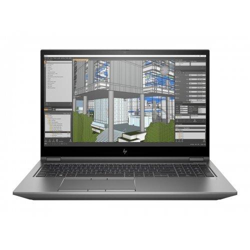 """Лаптоп HP ZBook Fury 15 G7, сив, 15.6"""" (39.62см.) 1920x1080 (Full HD) без отблясъци IPS, Процесор Intel Core i7-10750H (6x/12x), Видео nVidia Quadro T2000/ 4GB GDDR6, 16GB DDR4 RAM, 1TB SSD диск, без опт. у-во, Windows 10 Pro 64 ОС, Клавиатура- светеща с БДС (снимка 1)"""