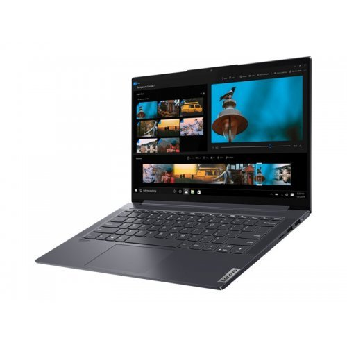 "Лаптоп Lenovo Yoga Slim 7 14ITL05 82A3, сив, 14.0"" (35.56см.) 1920x1080 (Full HD) без отблясъци IPS, Процесор Intel Core i5-1135G7 (4x/8x), Видео Intel Iris Xe Graphics, 16GB DDR4 RAM, 512GB SSD диск, без опт. у-во, Windows 10 64 English ОС, Клавиатура- светеща с БДС (снимка 1)"