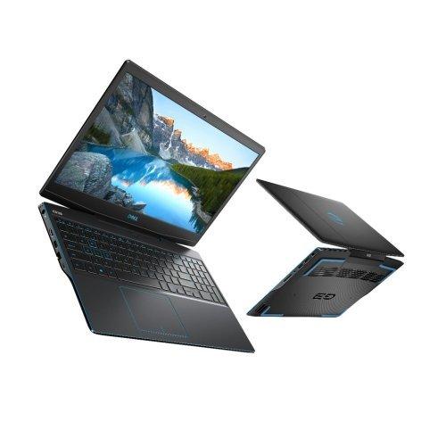 "Лаптоп Dell G3 15 3500, черен, 15.6"" (39.62см.) 1920x1080 (Full HD) без отблясъци 120Hz, Процесор Intel Core i7-10750H (6x/12x), Видео nVidia GeForce GTX 1650 Ti/ 4GB GDDR6, 8GB DDR4 RAM, 512GB SSD диск, без опт. у-во, Windows 10 64 English ОС, Клавиатура- светеща (снимка 1)"