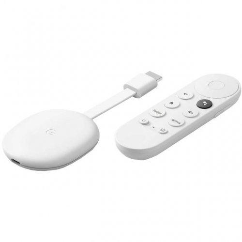 Дигитален плеър Мултимедиен плеър Google Chromecast with Google TV, HDMI, Бял (снимка 1)