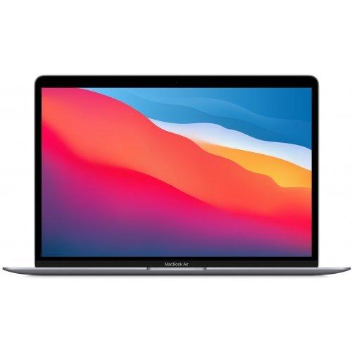 "Лаптоп Apple MacBook Air 13 M1, сив, 13.3"" (33.78см.) 2560x1600 (WQXGA) 60Hz IPS, Процесор Apple M1 (8 Core) 3.20 GHz, 8C GPU, Видео 7-core GPU, 8GB LPDDR4X RAM, 512GB SSD диск, без опт. у-во, MacOS X Sierra ОС, Клавиатура- светеща (снимка 1)"