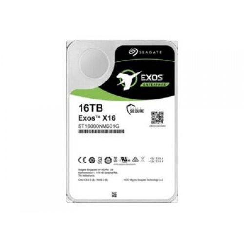 Твърд диск SEAGATE EXOS X16 SATA 16TB Helium 7200rpm 256MB cache 512e/4kn Fast Format BLK (снимка 1)