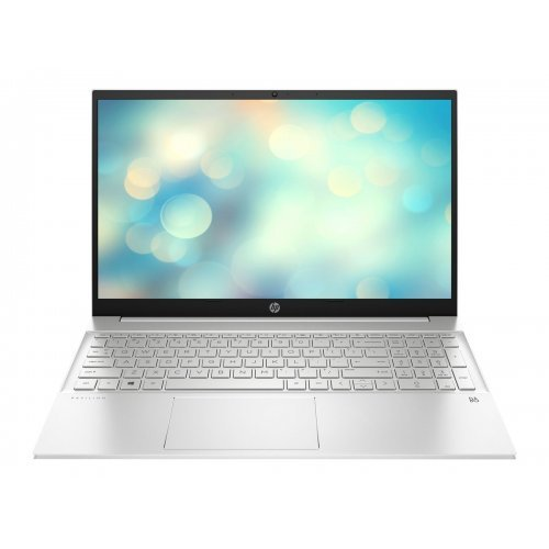 "Лаптоп HP Pavilion 15-eh0004nu, сребрист, 15.6"" (39.62см.) 1920x1080 (Full HD) без отблясъци IPS, Процесор AMD Ryzen 5 4500U (6x/6x), Видео AMD Radeon Graphics, 8GB DDR4 SDRAM RAM, 512GB SSD диск, без опт. у-во, FreeDOS ОС, Клавиатура- светеща с БДС (снимка 1)"