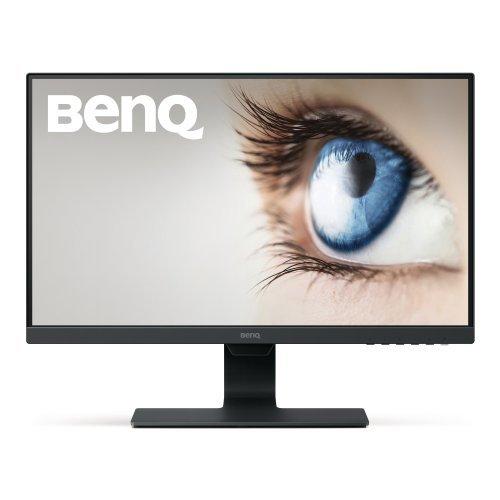 "Монитор BenQ GW2480, 23.8"" IPS, 5ms, 1920x1080 FHD, Stylish Eye Care Monitor, Flicker-free, LBL, Brightness Intelligence (B.I.), 1000:1, 20M:1 DCR, 8 bit, 250cd/m2, VGA, HDMI, DP, Speakers, Headphone jack, Line In, Tilt, Vesa, ES7.0, Ultra Slim Bezel, Black (снимка 1)"