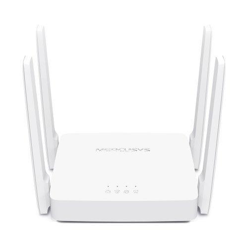 Безжичен рутер Mercusys AC10, AC1200, бял, 3x 10/100Mbps (Megabit Ethernet) порта(1x WAN+ 2x LAN), 4x 5dBi външни несменяеми разнопосочни антени, IPTV (снимка 1)