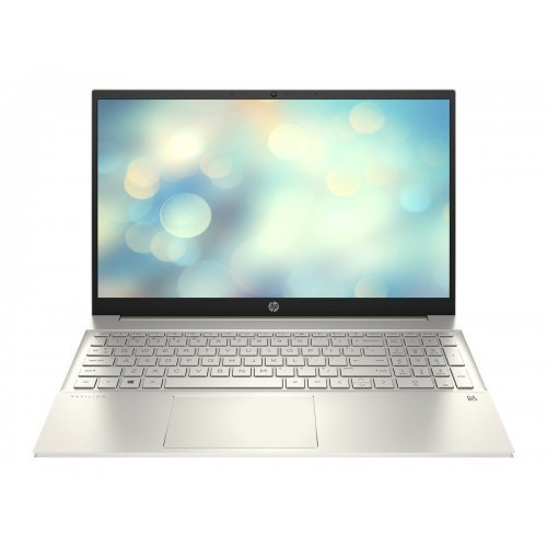 "Лаптоп HP Pavilion, сребрист, 15.6"" (39.62см.) 1920x1080 (Full HD) IPS, Процесор Intel Core i5-1135G7 (4x/8x), Видео nVidia GeForce MX350/ 2GB GDDR5, 8GB DDR4 SDRAM RAM, 512GB SSD диск, без опт. у-во, FreeDOS ОС, Клавиатура- светеща с БДС (снимка 1)"