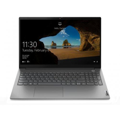 "Лаптоп Lenovo ThinkBook 15 G2 Intel Core i5-1135G7 (2.4GHz up to 4.2GHz,8MB), 8GB DDR4 2666MHz, 256GB SSD, 15.6"" FHD (1920x1080) 300 nits IPS, AG, Intel UHD Graphics, WLAN ac, BT, 720p Cam, Mineral Grey, KB Backlit, FPR, 3 cell, DOS,12Y (снимка 1)"