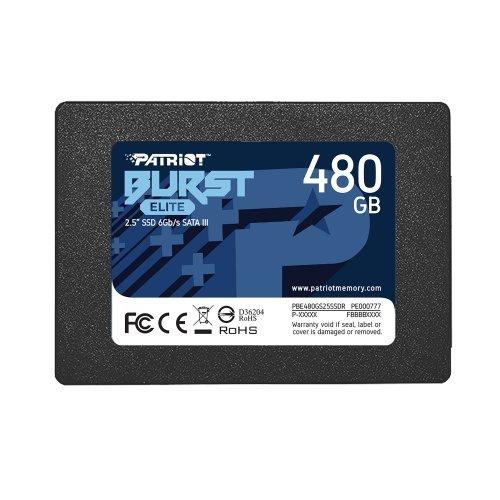 SSD Patriot 480GB Burst Elite SATA3 2.5 (снимка 1)