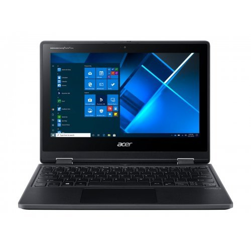 "Лаптоп-таблет Acer TravelMate Spin B3 TMB311R-31 - Flip design - Celeron N4020 / 1.1 GHz - Win 10 Pro 64-bit National Academic - 4 GB RAM - 64 GB eMMC - 11.6"" AHVA touchscreen 1366 x 768 (HD) - UHD Graphics 600 - Wi-Fi 5, Bluetooth - shale black - kbd: US International/Bulgarian (снимка 1)"