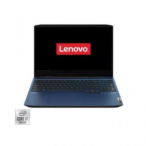 Лаптоп Lenovo IdeaPad 3 15IMH05 Intel®Core™i7-10750H, RAM 8GB, SSD 512GB, nVIdia GTX1650Ti 4Gb,Free DOS,chamaleon blue (снимка 1)