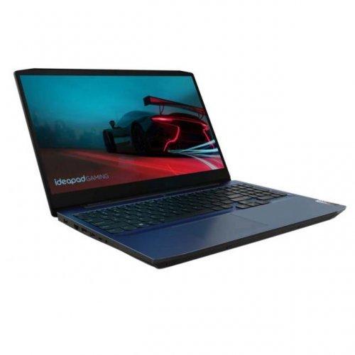 Лаптоп Lenovo IdeaPad 3 15ARH05 AMD® Ryzen ™ 5 4600H, RAM 8GB, SSD 256GB, nVIdia GTX1650 Ti 4Gb,Free DOS,chamaleon blue (снимка 1)