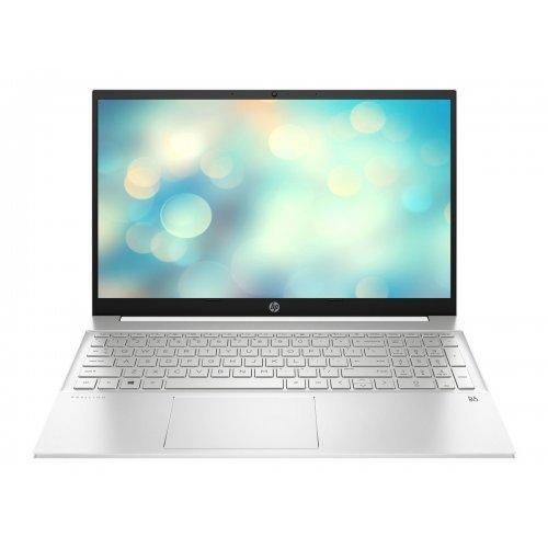 "Лаптоп HP Pavilion 15-eg0023nu - Core i5 1135G7 - FreeDOS - 8 GB RAM - 512 GB SSD NVMe - 15.6"" IPS 1920 x 1080 (Full HD) - GF MX350 - Wi-Fi 5, Bluetooth - natural silver (base), paint finish (base), sandblasted (cover and keyboard frame), natural silver aluminium keyboard frame, ceramic white aluminium (cover) - kbd: Bulgarian (снимка 1)"