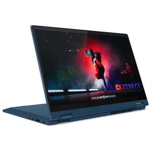 "Лаптоп-таблет Lenovo Laptop-Tablet IdeaPad Flex 5 14ITL05, 2 в 1, син, 14.0"" (35.56см.) 1920x1080 (Full HD) лъскав тъч, Процесор Intel Core i5-1135G7 (4x/8x), Видео Intel Iris Xe Graphics, 16GB DDR4 RAM, 512GB SSD диск, без опт. у-во, Windows 10 64 ОС, Клавиатура- светеща с БДС (снимка 1)"