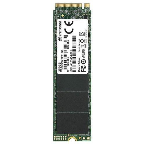 SSD Transcend 256GB, M.2 2280,PCIe Gen3x4, M-Key, 3D TLC, DRAM-less (снимка 1)