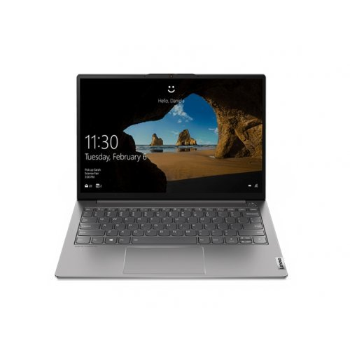 """Лаптоп Lenovo ThinkBook 13s G2 Intel Core i5-1135G7 (2.4MHz up to 4.2GHz, 8MB), 16GB Soldered LPDDR4x 4266MHz, 512GB SSD, 13.3"""" WUXGA (1920x1200) IPS AG, Intel Iris Xe Graphics, WLAN, BT, 720p Cam, Backlit KB, FPR, 4 cell, Mineral Grey, DOS, 2Y (снимка 1)"""