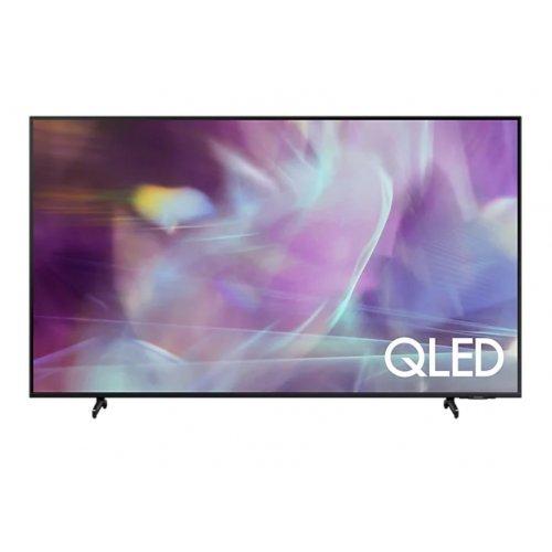 """Телевизор Samsung 43"""" 43Q60A QLED FLAT, SMART, 3100 PQI, Dual LED, Quantum HDR, HDR 10+, Dolby Digital Plus, Q-Symphony, Bixby, Bluetooth 4.2, 3xHDMI, 2xUSB, Frameless, Tizen, Black (снимка 1)"""