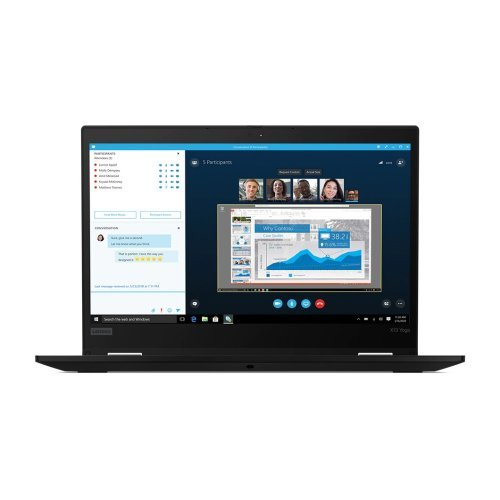 "Лаптоп Lenovo ThinkPad X13 Yoga G1 Intel Core i5-10210U (1.6GHz up to 4.2GHz, 6MB), 16GB DDR4 2666MHz, 512GB SSD, 13.3"" FHD (1920x1080) IPS, AR, Touch, Integrated Intel UHD Graphics, WLAN, BT, 720p&IR Cam, Backlit KB, FPR, SCR, Pen Pro, 3 cell, Black, Win 10 Pr (снимка 1)"