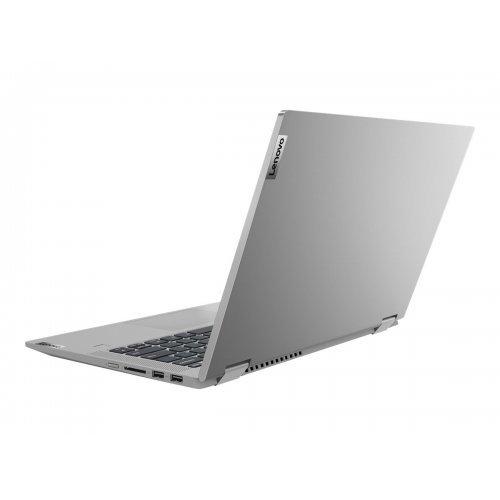 "Лаптоп-таблет Lenovo IdeaPad Flex 5 14ITL05 82HS - Flip design - Core i5 1135G7 / 2.4 GHz - Win 10 Home 64-bit - 16 GB RAM - 512 GB SSD NVMe - 14"" IPS touchscreen 1920 x 1080 (Full HD) - GF MX450 / Iris Xe Graphics - Bluetooth, Wi-Fi - platinum grey - kbd: Bulgarian (снимка 1)"