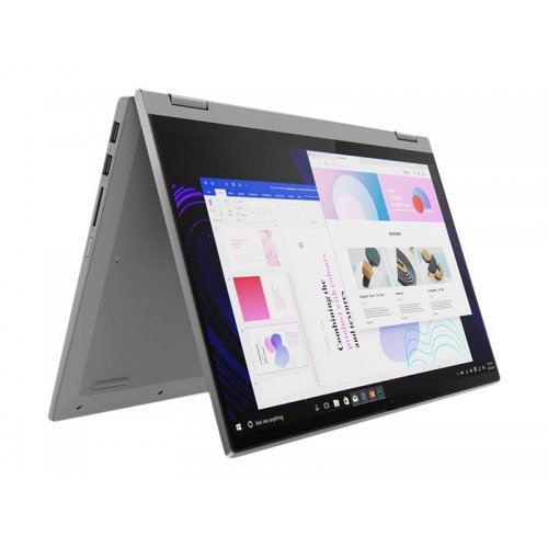 "Лаптоп-таблет Lenovo Laptop-Tablet IdeaPad Flex 5 14ALC05 82HU, 2 в 1, сив, 14.0"" (35.56см.) 1920x1080 (Full HD) лъскав IPS тъч, Процесор Intel Core i5-5300U (2x/4x), Видео AMD Radeon Graphics, 8GB DDR4 RAM, 512GB SSD диск, без опт. у-во, Windows 10 64 English ОС, Клавиатура- светеща с БДС (снимка 1)"