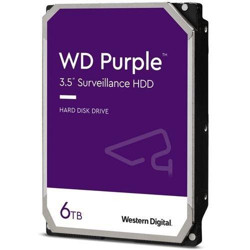 """Твърд диск Western Digital 6TB Purple Surveillance, 5400rpm SATA 6Gb/s 128MB cache 3,5"""" (снимка 1)"""